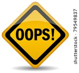 vector oops sign isolated on... | Shutterstock .eps vector #79549837