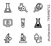 research icons. set of 9... | Shutterstock .eps vector #795498712