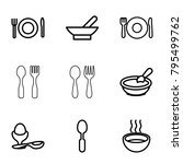 spoon icons. set of 9 editable... | Shutterstock .eps vector #795499762