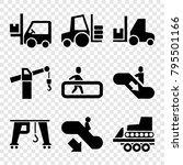 lift icons. set of 9 editable... | Shutterstock .eps vector #795501166