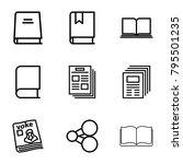 publish icons. set of 9...   Shutterstock .eps vector #795501235