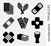 band icons. set of 9 editable... | Shutterstock .eps vector #795501292