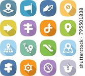 flat vector icon set   pointer... | Shutterstock .eps vector #795501838