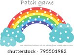 education patch game rainbow... | Shutterstock .eps vector #795501982