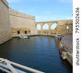 Small photo of Valletta, Malta / Malta - November 2017: Fort Saint Angelo