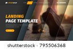 template vector header with... | Shutterstock .eps vector #795506368