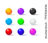 color balls isolated on white...