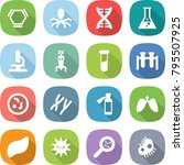 flat vector icon set   hex... | Shutterstock .eps vector #795507925