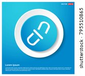 chain link icon abstract blue...