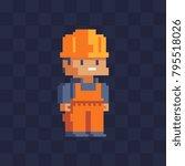 builder character  worker....   Shutterstock .eps vector #795518026