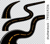 winding curved road or highway... | Shutterstock .eps vector #795519256