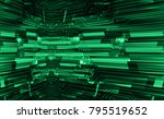 binary circuit board future... | Shutterstock .eps vector #795519652