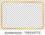 golden rectangle frame for... | Shutterstock .eps vector #795519772
