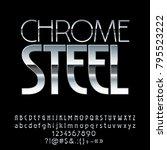 vector logo chrome steel. chic... | Shutterstock .eps vector #795523222