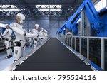 3d rendering robot assembly... | Shutterstock . vector #795524116