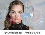 biometrics concept. facial... | Shutterstock . vector #795534796
