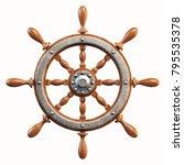 ship wheel isolated on white... | Shutterstock . vector #795535378