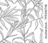 ginger seamless pattern | Shutterstock .eps vector #795540748