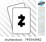zcash playing cards pictograph... | Shutterstock .eps vector #795543982