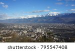 city view around alps mountain... | Shutterstock . vector #795547408