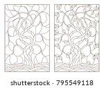 set contour illustrations of...   Shutterstock .eps vector #795549118
