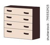 chest of drawers for bedroom   Shutterstock .eps vector #795552925