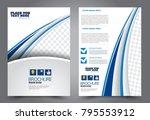 flyer template. brochure for... | Shutterstock .eps vector #795553912