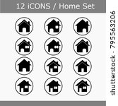 house icon set. | Shutterstock . vector #795563206