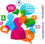 social network background with... | Shutterstock .eps vector #79556383