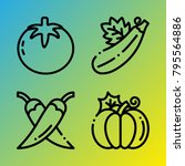vegetarian vector icon set... | Shutterstock .eps vector #795564886