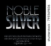 vector silver style alphabet... | Shutterstock .eps vector #795569836