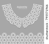 vector fashion background.... | Shutterstock .eps vector #795571966