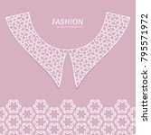 vector fashion background.... | Shutterstock .eps vector #795571972