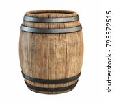 wooden barrel isolated on white ... | Shutterstock . vector #795572515