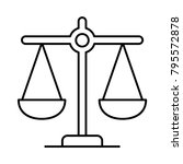 justice balance scale | Shutterstock .eps vector #795572878