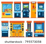 game machine arcade vector... | Shutterstock .eps vector #795573058