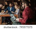 commercial director working...   Shutterstock . vector #795577375