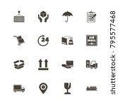 logistics icons. perfect black... | Shutterstock .eps vector #795577468