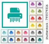 office shredder flat color... | Shutterstock .eps vector #795579316