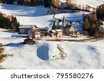 the small village of st.... | Shutterstock . vector #795580276