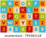 foam baby kids play mat...   Shutterstock .eps vector #795582118