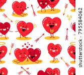 cute seamless pattern of... | Shutterstock .eps vector #795584062