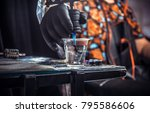 hand of master of the art of... | Shutterstock . vector #795586606