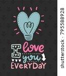 vector scandinavian lettering... | Shutterstock .eps vector #795588928