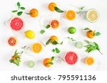 fruit background. colorful...   Shutterstock . vector #795591136
