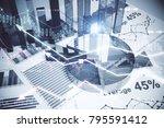 abstract forex wallpaper.... | Shutterstock . vector #795591412