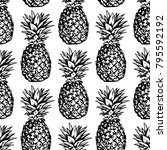 seamless vector pattern with... | Shutterstock .eps vector #795592192