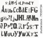 alphabet stamp | Shutterstock .eps vector #79559734