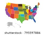 superhigh detail of us map... | Shutterstock .eps vector #795597886