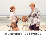young people talking and smile...   Shutterstock . vector #795598672